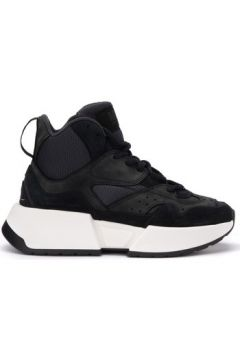 Chaussures Mm6 Maison Margiela Baskets en suède et tissu noir(115648265)