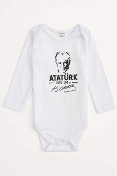 DeFacto Erkek Bebek Atatürk Baskılı Çıtçıtlı Body(125927608)