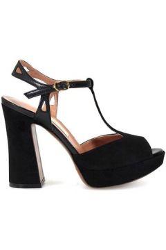 Sandales L\'autre Chose Sandales Leather And Suede Platform Noir(101554036)