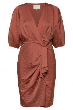 Penelope Recycled Dress Kleid Knielang Pink NOTES DU NORD(118696977)