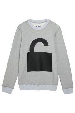 Sweat-shirt Csb London 2D 3D Logo Print(98720221)