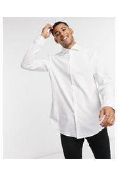 HUGO - Kason - Camicia slim bianca a quadri in cotone facile da stirare-Bianco(127297312)