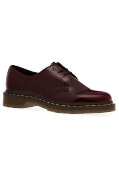 Dr Martens Vegan 1461 Cambridge Brush 3 Eye Dress Shoes - Cherry Red(122562143)