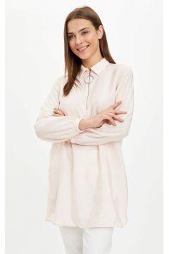 DeFacto Kadın Gömlek Yaka Fermuarlı Tunik(119059049)