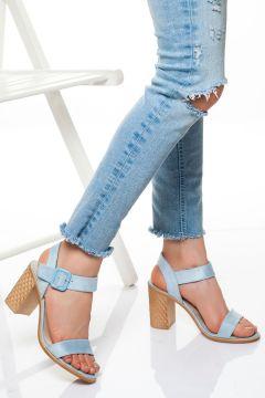 derithy -klasik Topuklu Ayakkabı-mavi Süet(120829377)
