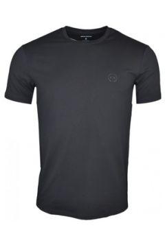 T-shirt Armani T-shirt col rond Exchange noir pour homme(115506530)