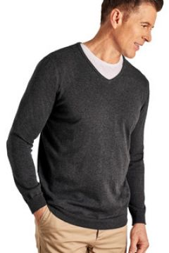 Pull Woolovers Pull à col V Homme Coton peigné(127970896)