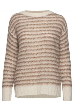 Alpaca Stripe Po.Air Strickpullover Beige THEORY(114153385)
