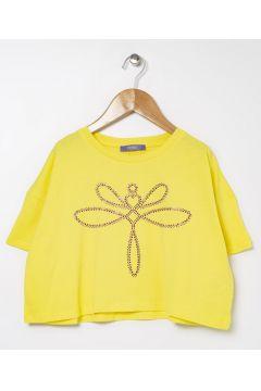 Tyess B&G Sarı Kız Çocuk T-Shirt(114005908)