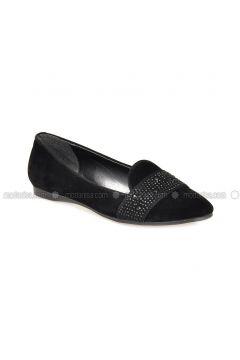 Black - Flat - Flat Shoes - Vizon(110330302)