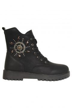 Twingo 730 Siyah Termal Kürklü Kışlık Kadın Bot Ayakkabı(124695527)