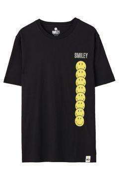 Schwarzes T-Shirt Smiley mit Logos(108908707)