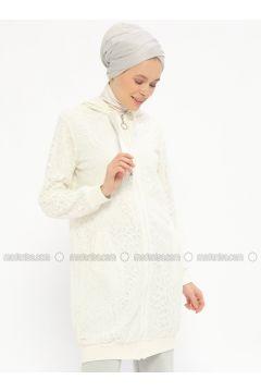 White - Ecru - Fully Lined - Topcoat - Nefise(110320786)