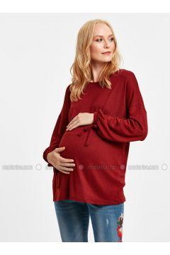 Red - Maternity Blouses Shirts - LC WAIKIKI(110316404)