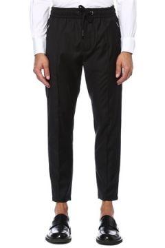 Dolce&Gabbana Erkek Siyah Dar Paça Yün Pantolon 46 IT(121159783)