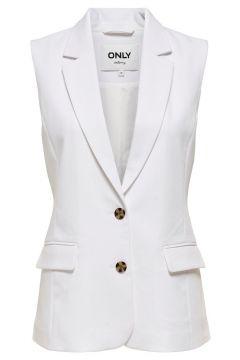 ONLY Klassiek Gilet Dames White(114634701)