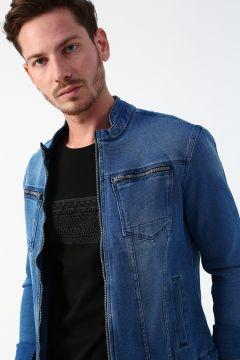 Twister Jeans Mavi Armürlü Denim Ceket(118638518)
