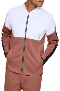 Under Armour 1344135-112 Athlete Recovery Knit Warm Up Top-Wht Erkek Zip Ceket(115295424)