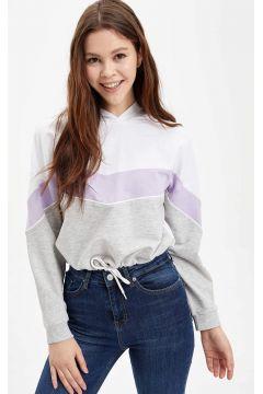 DeFacto Kadın Renk Bloklu Kapüşonlu Sweatshirt(119061567)