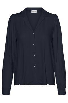 VERO MODA Longsleeve Overhemd Dames Blauw(109152792)