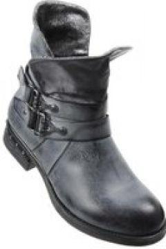 Pantofelek24.pl   Granatowe workery z wywijaną cholewką(112082620)