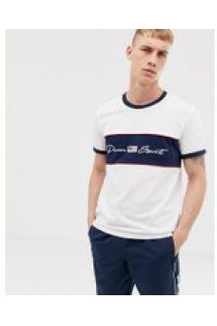 Penn Sport - T-shirt bianca con logo sul petto-Bianco(112542329)