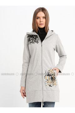 Gray - Unlined - Topcoat - Sementa(110336949)
