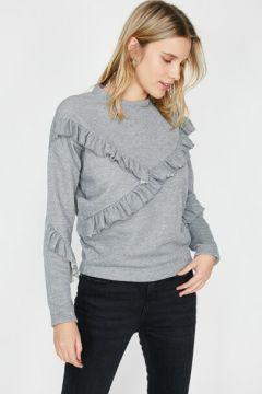 Koton Kadın Firfir Detayli Sweatshirt(113411649)