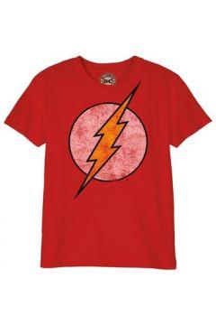 T-shirt enfant Cotton Division T-shirt Enfant DC Comics - Flash Logo Grunge(115499553)