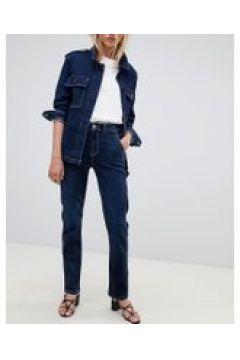Tomorrow - Pantaloni lavorati in denim sostenibile con cuciture a contrasto-Blu(112835298)