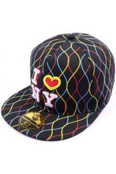 Casquette Hip Hop Honour Casquette NY fitted Noire avec rayures(115396361)