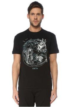 Valentino Erkek Siyah Harita Baskılı T-shirt S EU(127364732)