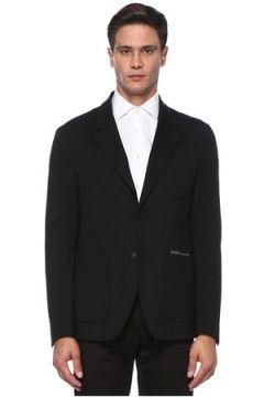 Givenchy Erkek Siyah Kelebek Yaka Logo Detaylı Ceket 52 IT(121108513)