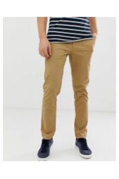 Original Penguin - Schmale Stretch-Chino in Beige - Beige(86704654)