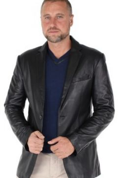 Veste Giovanni Blazer en cuir ref_gvi37175-noir(115556700)