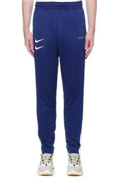 Nike Erkek Swoosh Mavi Beli Kordonlu Eşofman Altı L EU(109265206)