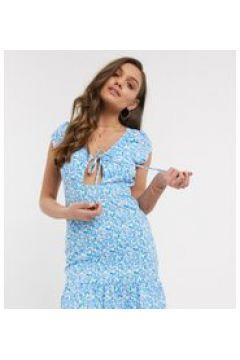 Fashion Union Petite - Vestito corto con cut-out a fiori-Multicolore(120330713)