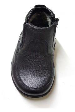 Muya 84266 Siyah Ortopedik Fermuarlı Erkek Botu Deri(108519810)