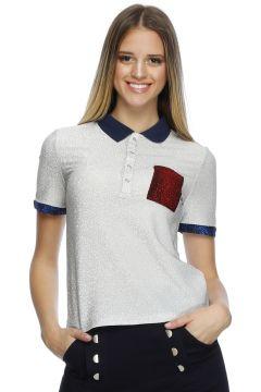 Cubic Parlak Desenli T-Shirt(113955917)