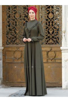 Khaki - Polo neck - Fully Lined - Dresses - Nurkombin(110323520)