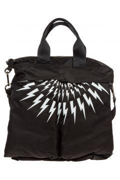 Men's bag handbag nylon thunderbolt fair-isle(116887497)