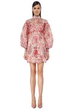 Zimmermann Kadın Wavelength Pembe Mini İpek Organza Elbise 2 US(118603809)