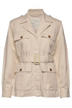 Heritage Cotton-Linen Safari Jacket Outerwear Jackets Utility Jackets Creme BANANA REPUBLIC(116333761)