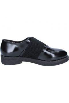 Ville basse Francescomilano élégantes noir cuir textile BX332(115442528)