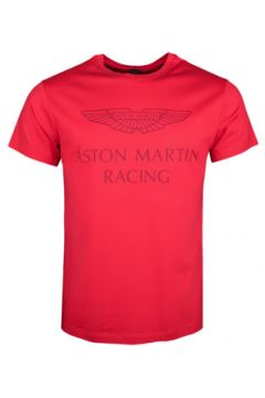 T-shirt Hackett T-shirt col rond Aston Martin rouge pour homme(127991742)