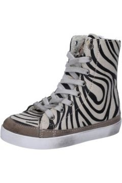 Chaussures enfant 2 Stars sneakers beige cheveux veau daim AD994(115393798)