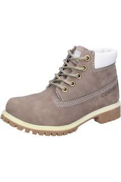 Boots enfant Enrico Coveri COVERI bottines gris cuir suédé AD831(88482269)