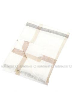 Ecru - Shawl Wrap - DeFacto(110325679)