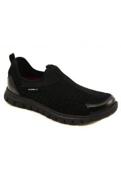 Forelli Hakiki Deri Ve Streç Siyah Erkek Comfort Ayakkabı 45821(116846542)