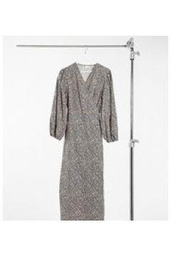 Glamorous Curve - Vestito midi comodo e avvolgente con stampa floreale su sfondo scuro-Multicolore(123791494)